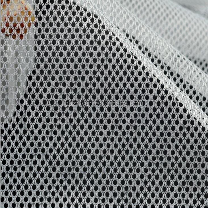 polyester cheap knit breathable diamond design DTY stretch mesh for baby diaper shopping bag laundry bag sports lining