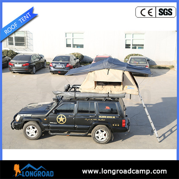 Roof rack hard wall tent
