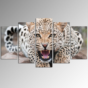 Large Leopard Picture Digital Print/Group Canvas Painting for Wall/Animal Wall Art Wholesale