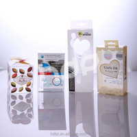 factory offer wholesale packaging box design with pvc pp pet