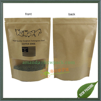 China manufacturer high quality coffee tea food kraft paper bag with window