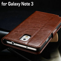 Retro wallet with stand leather phone case for Samsung Galaxy Note 3 N9000 flip book style