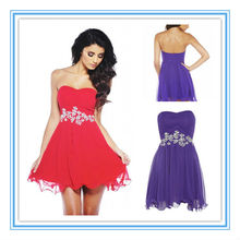 Best Selling Strapless A-line Purple Applique Suzhou Factory Custom Made Sexy Country Bridesmaid Dresses(AC-1004)