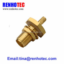 Waterproof Female cable crimp sma ipx rg316 rf connector