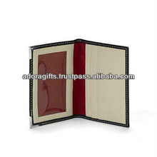 pu brown leather business card holders / custom id card cases / leather pocket business credit card holders