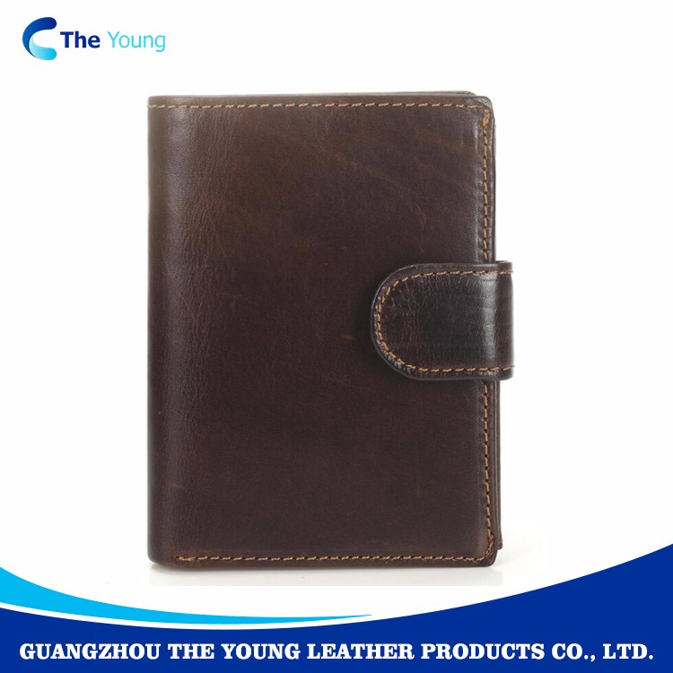 2017 Guangzhou fashion young genuine leather mens wallet