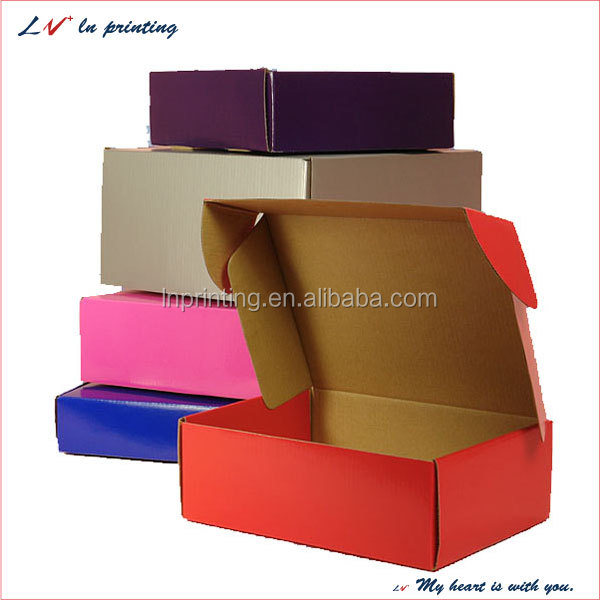 hot sale high quality custom corrugated packaging box different color mailing box made in shanghai