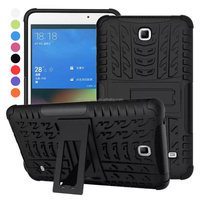 Dual Layer Armor Case PC TPU Hard Stand Tablet Cover Case for Samsung GALAXY Tab 4 T230
