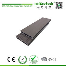 Outdoor patio wpc extruded plastic composite decking