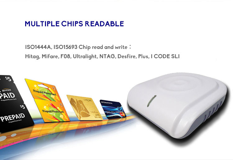 HY-R530 USB/ RS232/ TCP/IP Interface Contactless Desktop RFID Reader