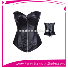 Top Quality Handmade overbust Leather Corset Leather Waist Trainer overbust