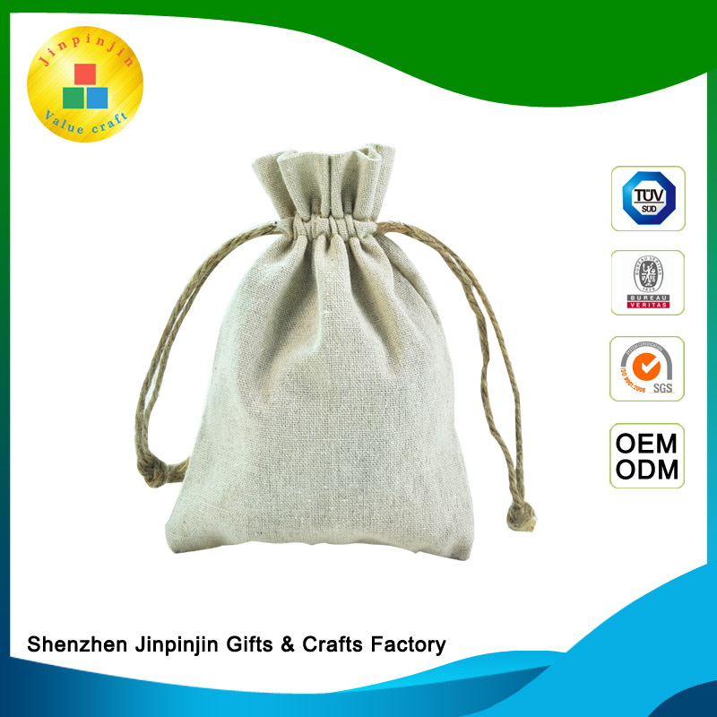 Hot selling jute shopping bag small gift bags Jewelry bag