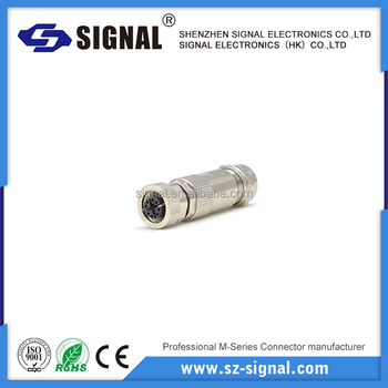 IP67/68 m12 male and female electrical connector