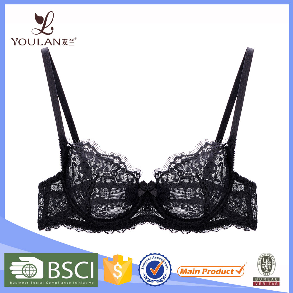 2016 Design Good Quality Eyelash Lash Front Closure Brassiere Sex Bra