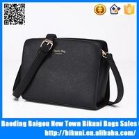 New fashion simple design wholesale pu leather women european shoulder bag messenger bag