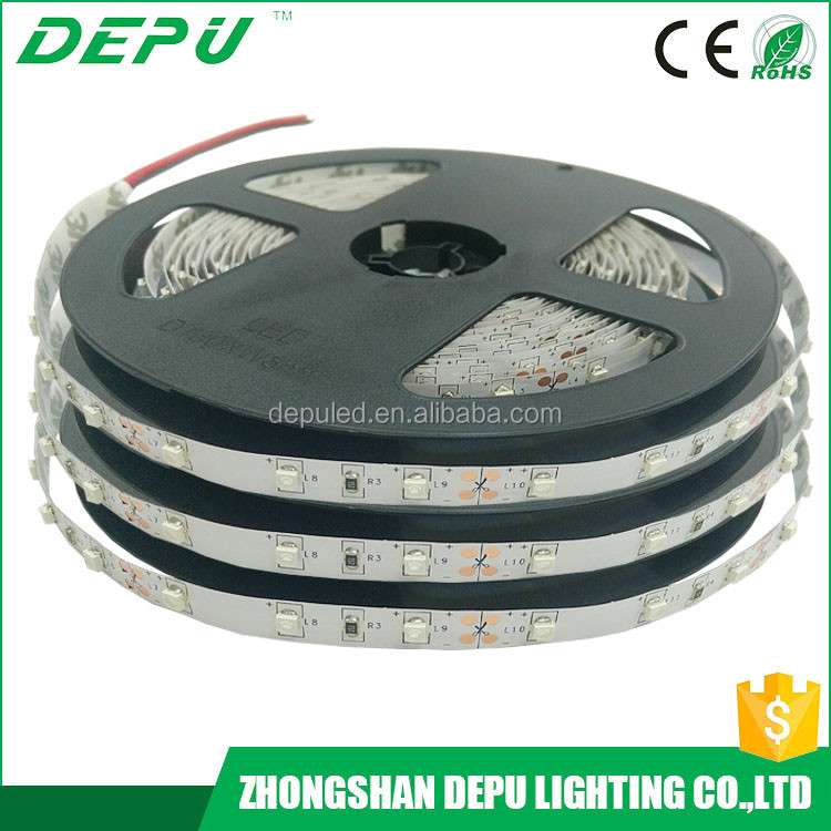 china manufacturer 5m/roll 12v ip20 rechargeable led strip light 3528 outdoor christmas decorations