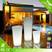 LED decoration LED display illuminated flower pot plastic vase // modern mini flat table glass led illuminate flower