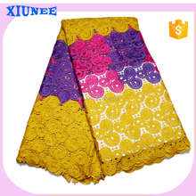 China supplier african women fashion designs water soluble lace fabric with beautiful flower
