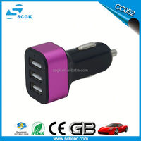 Promotional dual usb car charger 9v