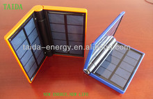 Emergency power bank solar charger travel charger with lighting function