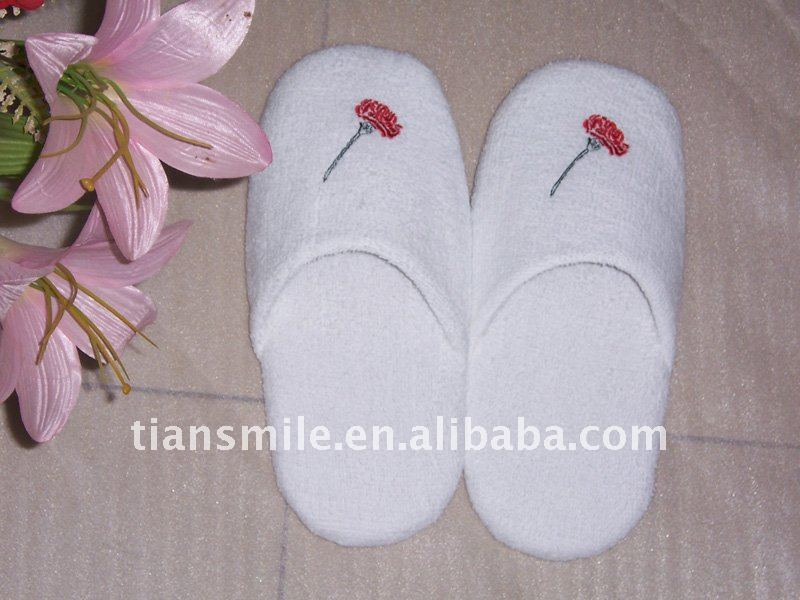 waffle disposable hotel bathroom slippers