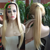 Factory Direct Supply Wholesale Price Brazilian Remy Hair Straight Ombre Two Tone 1B T 613 Blonde Full Lace Wig