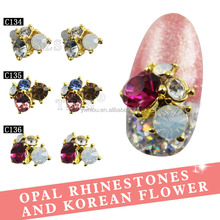 Korean Fashion Accessories Nail Art Decoration Alloy Jewery Rhinestone Stickers