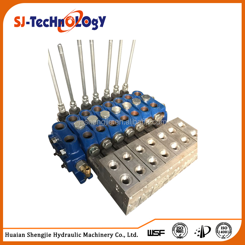Chinese manufacturer low price sectional direction three way electric hydraulic control valve