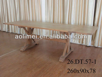 french extending trestle dining table