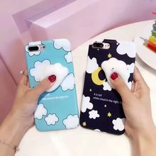 colorful Case for iPhone 7 iPhone 7 Plus Soft Silica Gel TPU Case Silicone Cover cute Mobile Phone Case