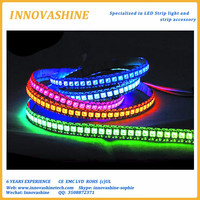 IC Built-in Individually addressable Magic dream color dc 5v pixel digital tape light smd 5050 rgb 144 led strip ws2812b chip