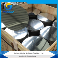 High quality astm slit edge no.2b 2B finish 201 stainless stell circle