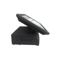 Alibaba Top Sale Black Color 15inch Dual Touch Display Terminal POS for Restaurant and Retail; Compact POS System