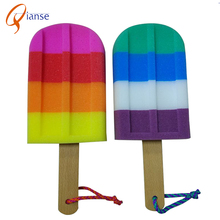 fashion design large popsicle shape bath brush / body washing brush / back scrubber
