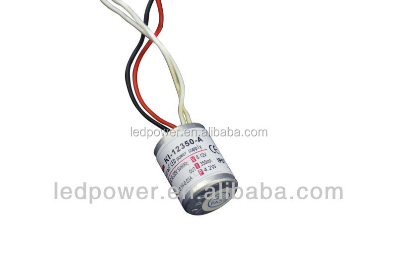 Waterproof electronic Constant Current led switching power supply 12v 3w 350MA IP67