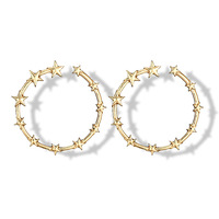 Fashion trendy star hoop earrings for women wholesale N80899