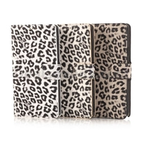 New Hot Leopard Pattern Wallet Style Magnetic Flip Stand Leather Case for Samsung Galaxy Note 4 N910h (White)