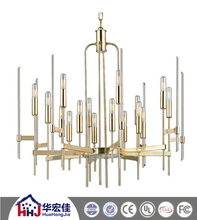 hotel project modern clear round glass ball chandelier design