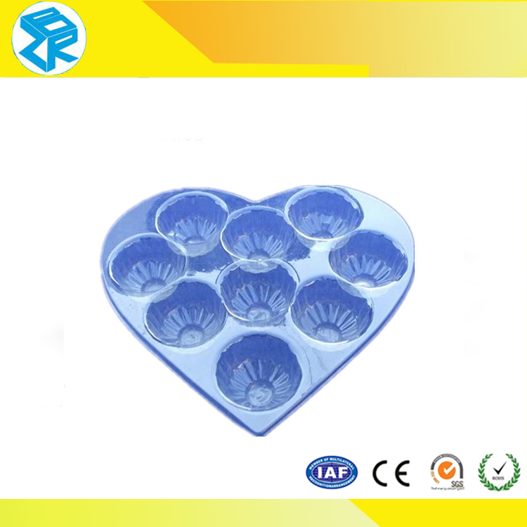 Professional custom made clear disposable blister chocolate insert tray