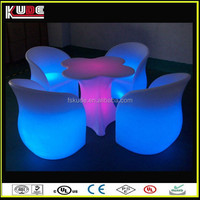 wireless garden remote control led chairs with flower table