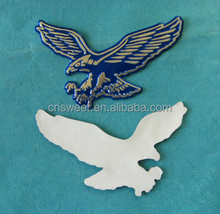 Customized 3D Decorative Label Metal Sticker with Embossed Logo Relief
