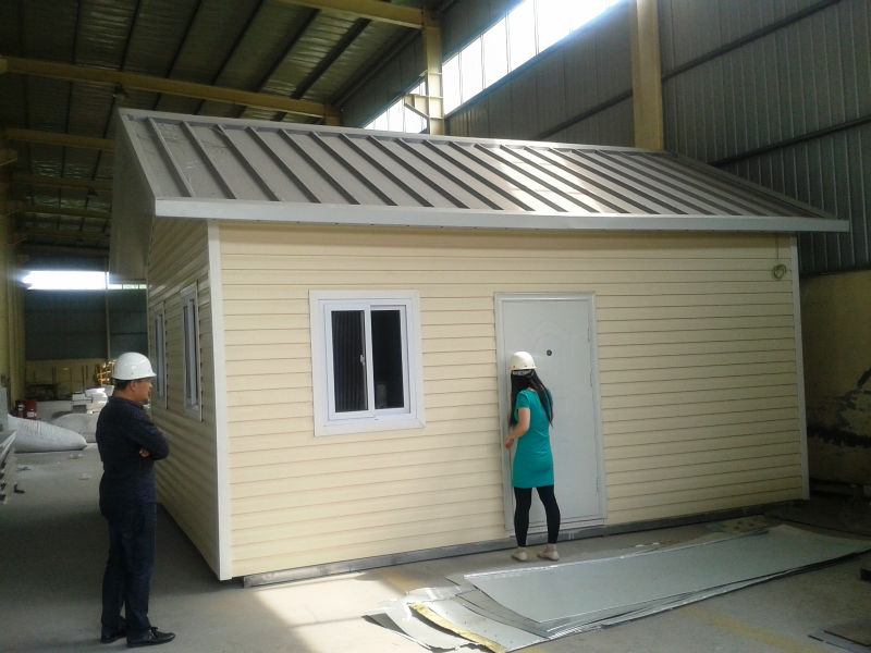 Prefab House, Insulated Sandwich Panel, Steel Frame