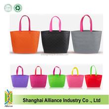 Eco friendly candy color intagliated non woven shopping tote bags