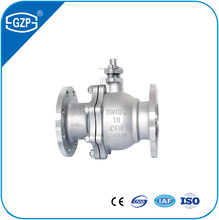 ANSI standard WCB body 2 pieces flange 150LB RF Metal sealing DN10 to DN500 floating ball valve with lever handle