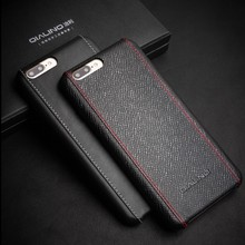 2017 QIALINO Special design Hot selling genuine leather mobile phone case dropshipping uk,usa for iphone 7