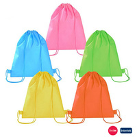 Plastic Cute Drawstring Promotional Backpack Bag