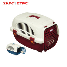 Soft comfortable plastic pet product animal travel foldable pet cage