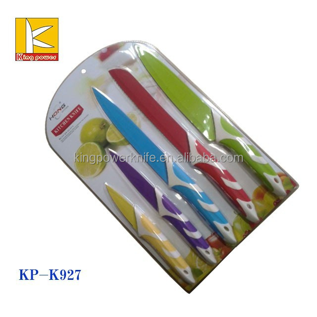 hot selling non stick kitchen knife set as soon on TV