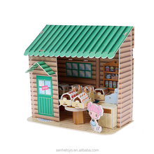 The Best Educational Brain Teaser 3D Mini house for girl 's kids toys DIY puzzle