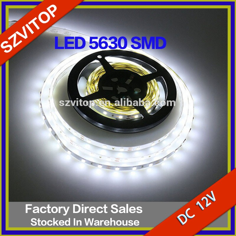 White/Warm white/Blue Flexible Light Tap Led Strip 5630 SMD 60LED/M No-waterproof e 300LED Super Bright Safety High Quality 12V